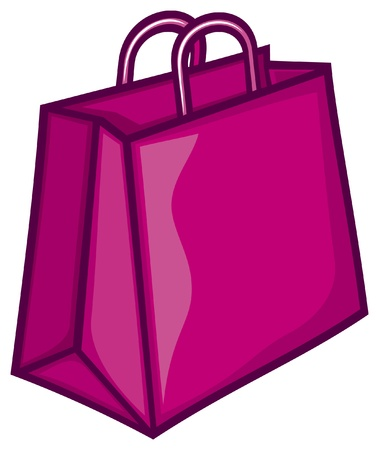 classic pink shopping bag  pink paper bag Stock Vector - 17422944