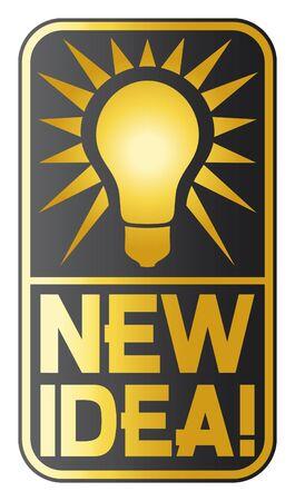 new idea: new idea light bulb  new idea symbol, classic light bulb