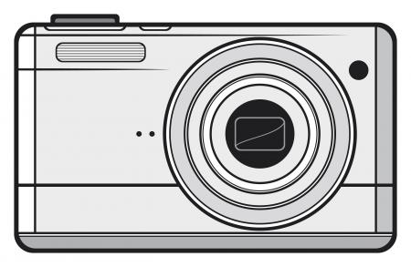 Compact digital camera  digital photo camera, professional camera  Stock Vector - 17422951