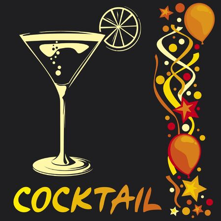 nightclub bar: cocktail design Illustration