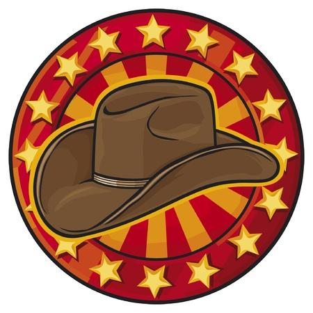 oeste: sombrero de vaquero