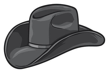 모자: 카우보이 모자 일러스트