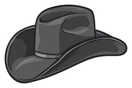 black hat: cappello da cowboy