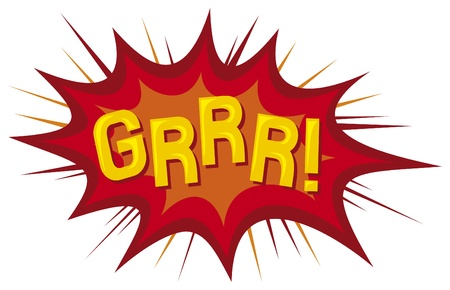 cartoon - grrr  comic book Stock Vector - 17422955