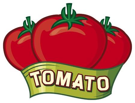 tomato label design Vector
