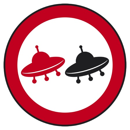 UFO no overtaking traffic sign  UFO no overtaking traffic sign