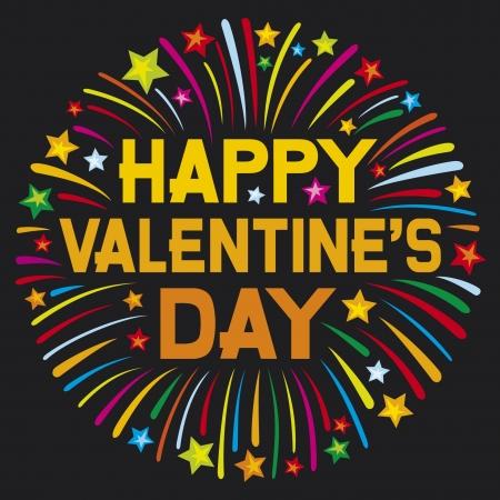 Happy valentine s day firework Stock Vector - 17470220