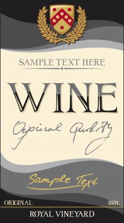 vines: vector wine label  design