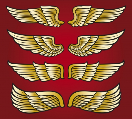 wings collection  set of wings Stock Vector - 17472590