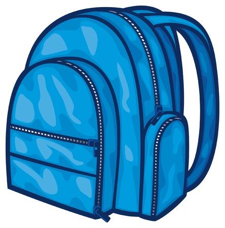 school bag: borsa zaino pack, sacchetto di scuola Vettoriali