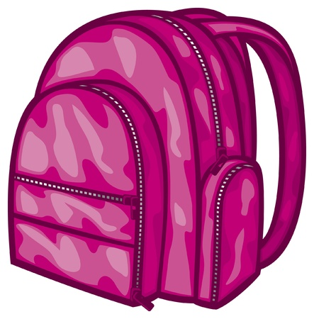 bag pack  backpack, school bag  Vector