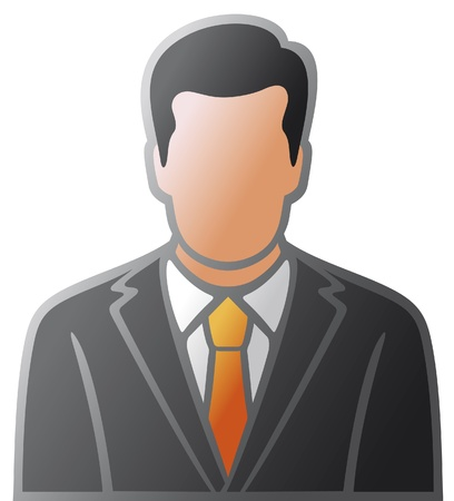 user icon of man in business suit  male avatar icons, faces of businessmen, vector icon with man Stock Vector - 17470937
