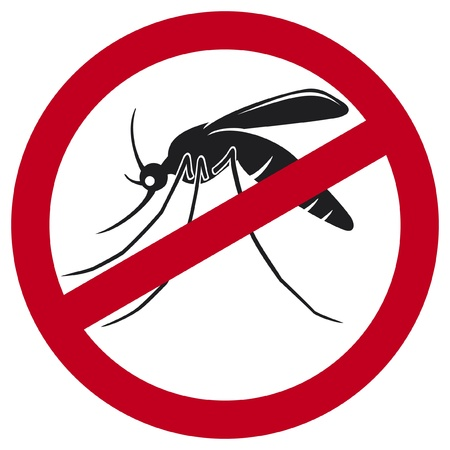 dengue: stop mosquito sign