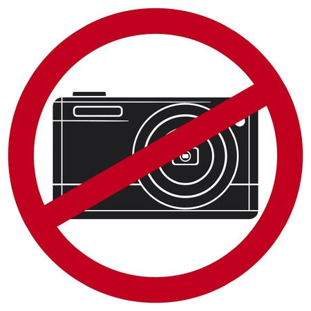 no photography sign  no camera symbol Stock Vector - 17469982