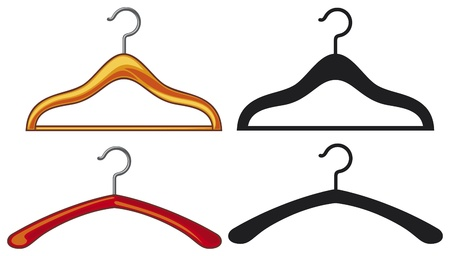 clothes hangers collection  hanger for clothing  Vector