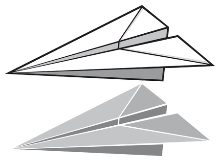 paper plane  paper airplane Stock Vector - 17469975