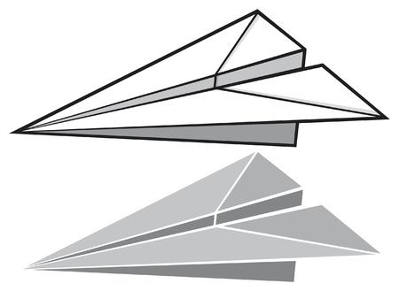 saubere luft: Papier Flugzeug Papierflieger