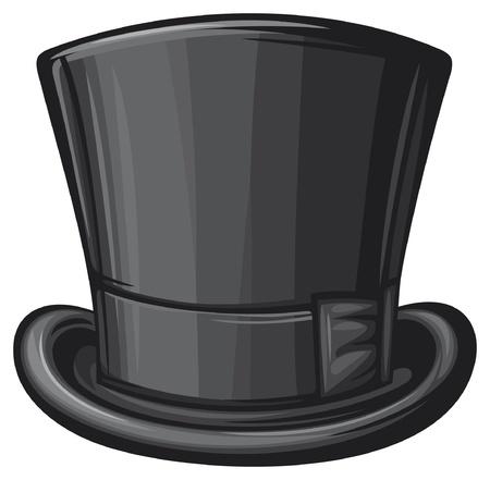 top hat  black gentleman hat  Vector