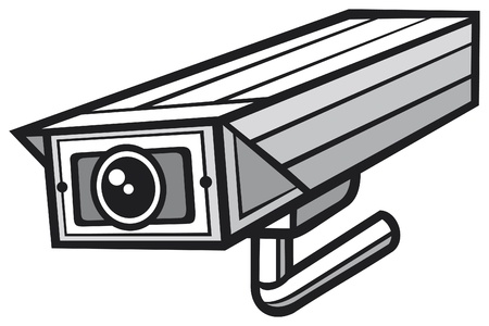 vector illustration of a security camera  security alarm cctv, camera surveillance, outdoor security camera  Vector