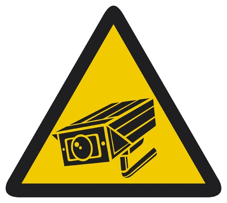 CCTV triangle symbols  camera surveillance sign, security camera, security alarm cctv, camera surveillance, outdoor security camera  Vector