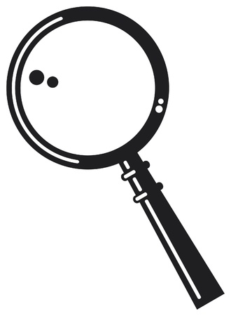 magnifying glass: magnifying glass Illustration