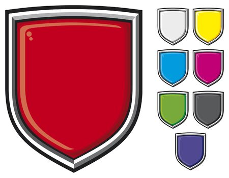 shields set  shields collection, set of shields  Stock Vector - 17758885