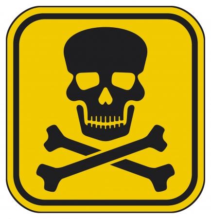 skull danger sign  deadly danger sign, warning sign, jolly roger sign, danger zone