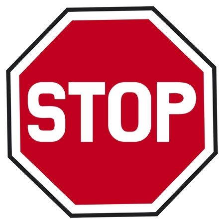 red sign: stop sign  traffic stop sign