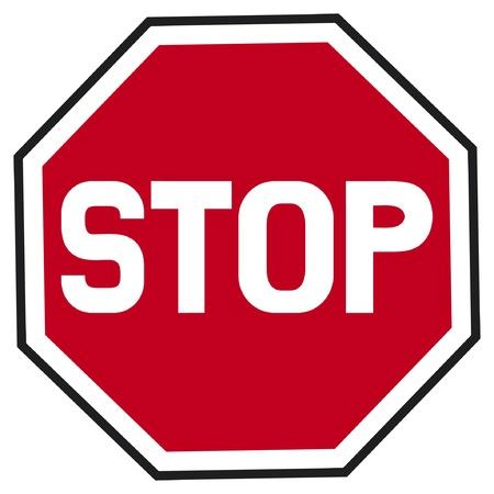 stopbord verkeers stopbord