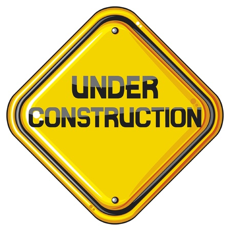 under construction sign  under construction icon, under construction symbol  Vector