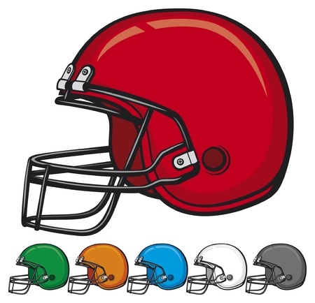 american football helmet collection  helmet football team, football helmets, american football helmet set  Stock Vector - 17920196