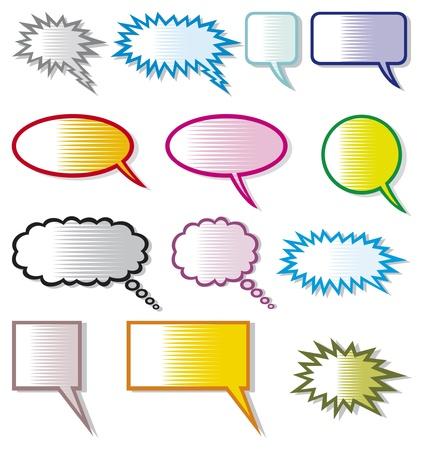 speech bubbles  comic speech bubbles  Stock Vector - 17920186