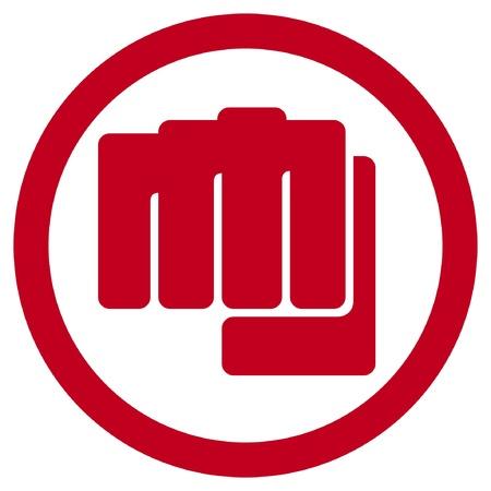 ballen: Faust Symbol menschlichen Hand Stanzen Zeichen