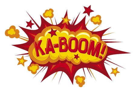 cartoon - ka-boom  comic book element  Vector