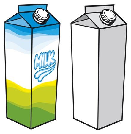 caja de leche: cart�n de leche la leche de cart�n con tapa de rosca, caja de cart�n, caja de leche, envases de leche de cart�n, envases de leche