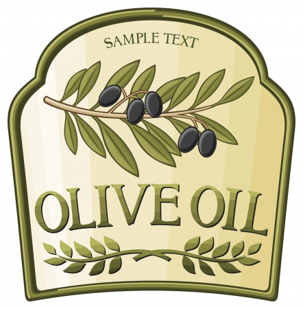 olive oil label Stock Vector - 17920921