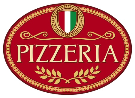 pizzeria label: pizzeria label design