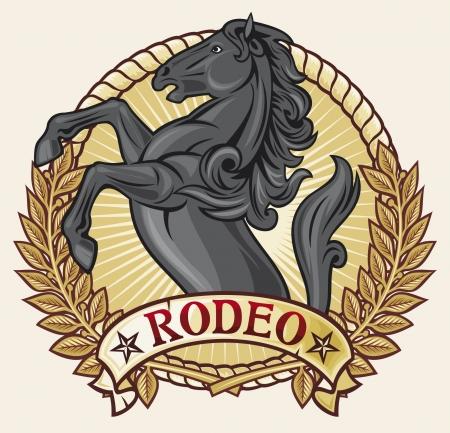 rodeo americano: etiqueta rodeo rodeo dise�o