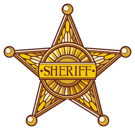 sheriff s star  sheriff badge, sheriff shield  Stock Vector - 17920090