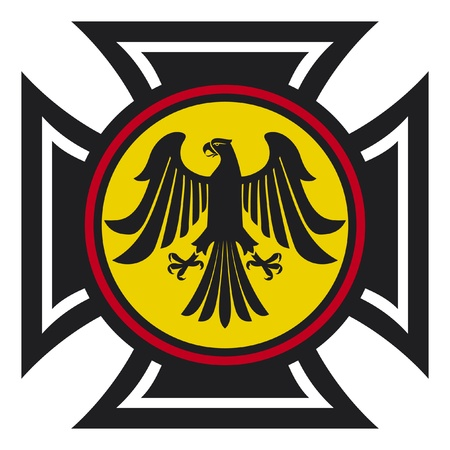 teutonic: eagle and the cross  symbol