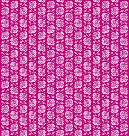 Seamless vintage flower rose pattern  Pink Roses Background Stock Vector - 17920923