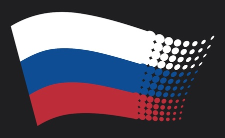 russian federation: Russia flag Illustration
