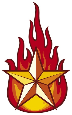 star and flame Vector