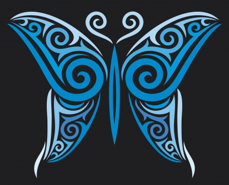 butterfly for tattoo design, tattoo style