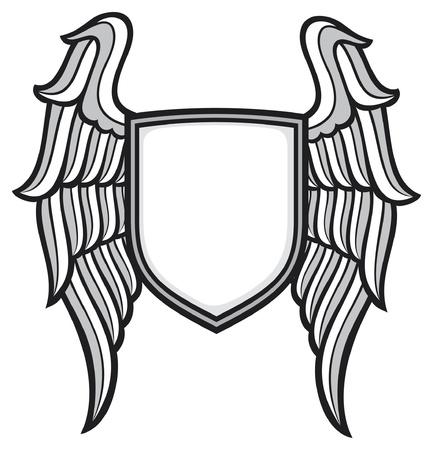 방패: 방패와 날개