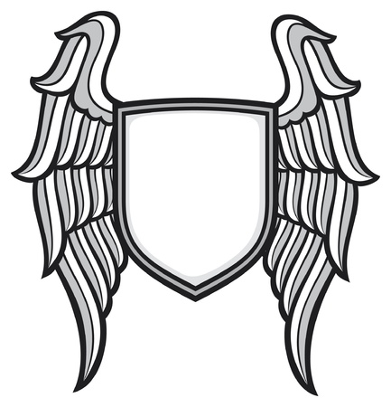 dingbat: shield and wings