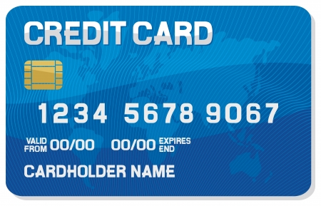 credit card with a smart chip  credit card icon  Vector