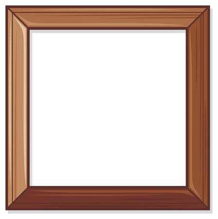 wood cuts: wooden frame