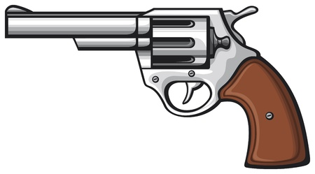 revolver: handgun  pistol  Illustration