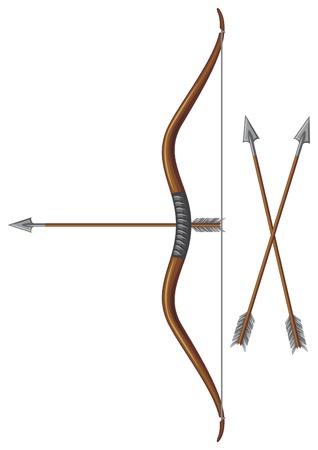 bow and arrow: bow and arrow